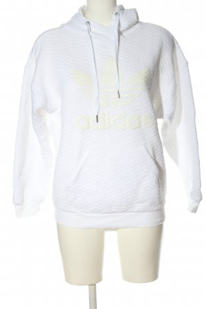 Adidas Felpa con cappuccio bianco stile casual