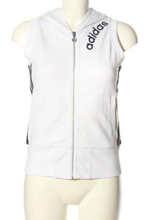 Adidas Kapuzenweste weiß-schwarz Casual-Look