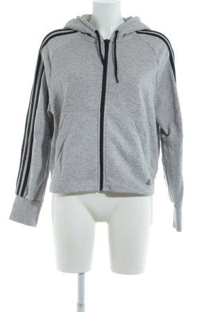 Adidas Capuchon vest lichtgrijs gestippeld casual uitstraling