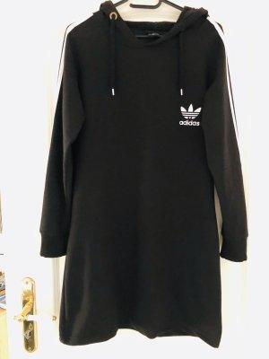 Adidas Vestido con capucha negro-blanco