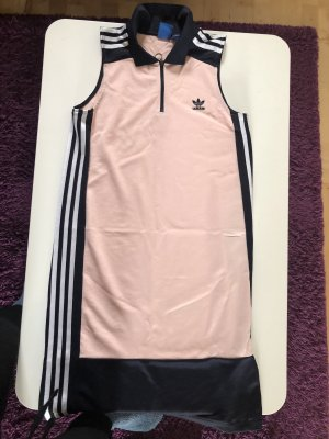 Adidas Originals Vestido de tela de sudadera negro-rosa claro
