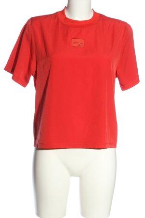 Adidas Kurzarm-Bluse rot Casual-Look
