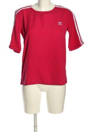 Adidas Kurzarm-Bluse pink Casual-Look