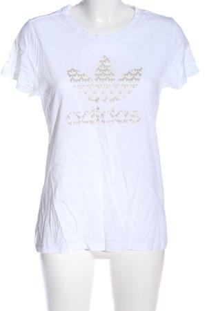 Adidas Kurzarm-Bluse Blumenmuster Casual-Look