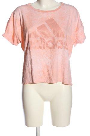 Adidas Kurzarm-Bluse pink Motivdruck sportlicher Stil