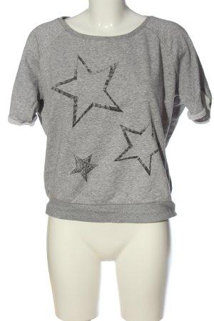 Adidas Short Sleeve Sweater light grey-black flecked casual look