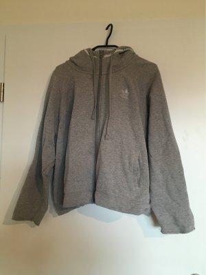 Adidas Giacca fitness grigio chiaro Cotone
