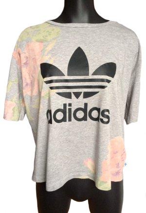 ADIDAS Kurzes T-Shirt mit Blumen-Print