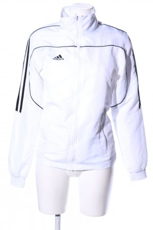 Adidas Kurzjacke weiß-schwarz Streifenmuster sportlicher Stil