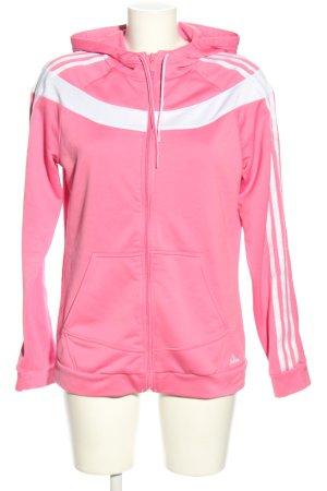 Adidas Chaqueta corta rosa-blanco look casual
