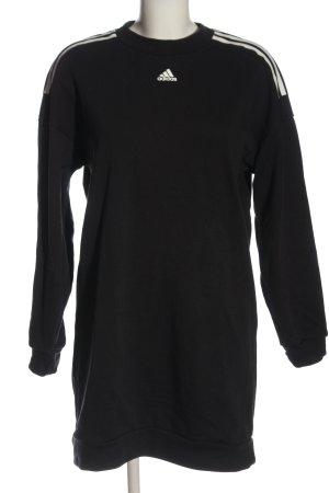 Adidas Robe à manches longues noir-blanc style décontracté