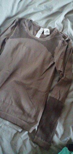Adidas Koszulka sportowa szaro-brązowy-jasnobrązowy