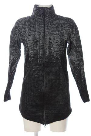 Adidas Lang jack zwart-lichtgrijs gestippeld casual uitstraling