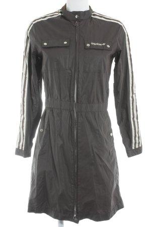 Adidas Lange Jacke dunkelbraun-wollweiß sportlicher Stil
