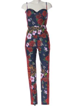 Adidas Langer Jumpsuit Blumenmuster Casual-Look