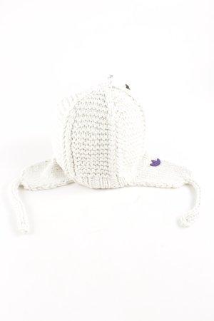 Adidas Bonnet cache-oreilles blanc cassé style décontracté