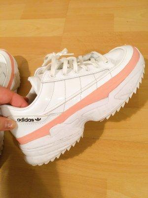 Adidas Zapatillas con tacón blanco-rosa