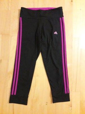 """Adidas Leggings 3/4 """" Climalite"""" schwarz pink Gr XS 34 36"""