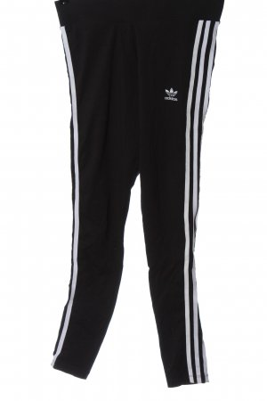 Adidas Leggings schwarz-weiß Motivdruck Casual-Look