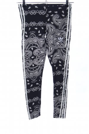 Adidas Legging noir-blanc motif graphique style décontracté