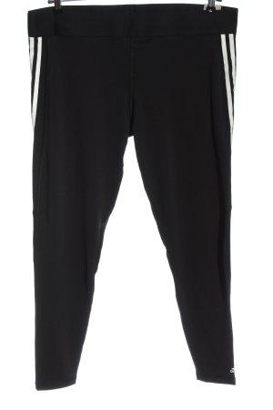 Adidas Legging noir-blanc motif rayé style décontracté