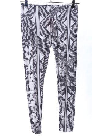 Adidas Leggings black-white allover print casual look
