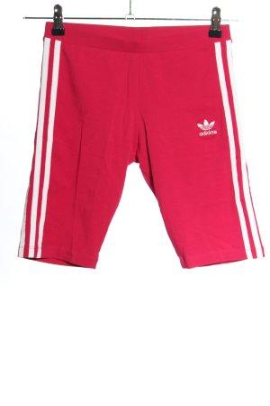 Adidas Leggings rot-weiß Casual-Look