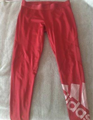 Adidas Legginsy czerwony Poliester