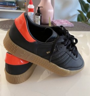 Adidas Heel Sneakers black-neon orange