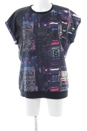 Adidas Longshirt Allover-Druck Casual-Look