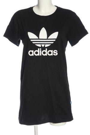Adidas Long Shirt black-white themed print casual look