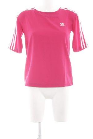 Adidas Longshirt pink-weiß Motivdruck sportlicher Stil