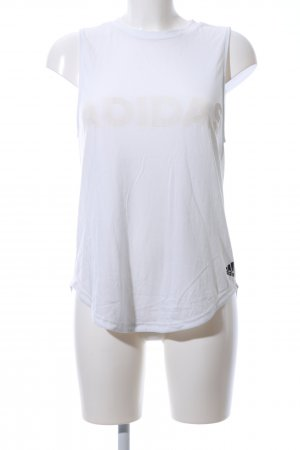 Adidas Lang shirt wit-wolwit gedrukte letters casual uitstraling