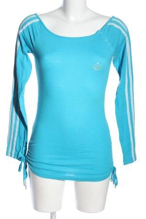 Adidas Longesleeve blauw-wit casual uitstraling