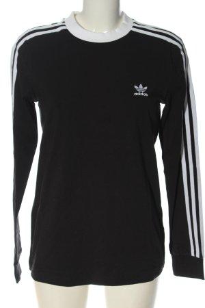 Adidas Top à manches longues noir-blanc style décontracté