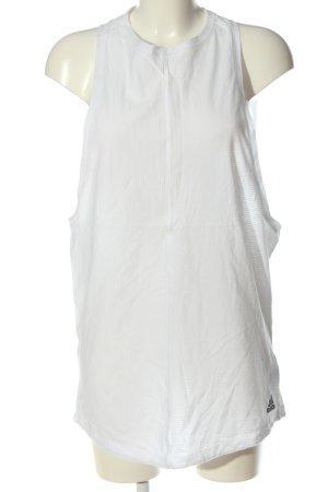 Adidas Lange top wit casual uitstraling