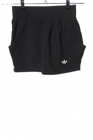 Adidas Minirock schwarz Schriftzug gedruckt Casual-Look