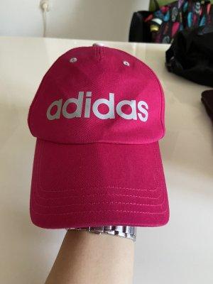 Adidas Gorra de béisbol rojo frambuesa