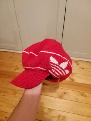 Adidas Visor Cap white-red