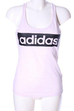 Adidas Muskelshirt pink-schwarz Schriftzug gedruckt Casual-Look
