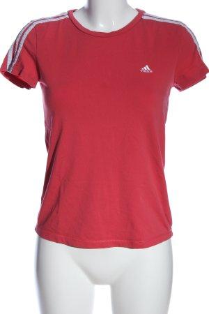 Adidas T-Shirt rot-weiß Casual-Look