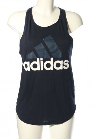 Adidas Muscle Shirt black-white themed print casual look