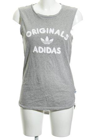 Adidas Muscleshirt gestippeld atletische stijl