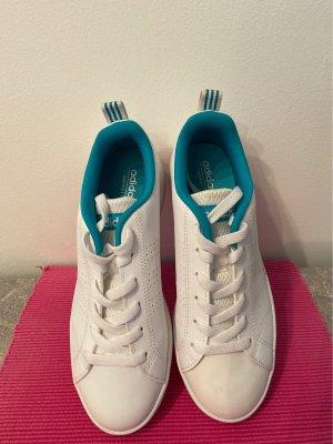 Adidas NEO Basket à lacet blanc-turquoise
