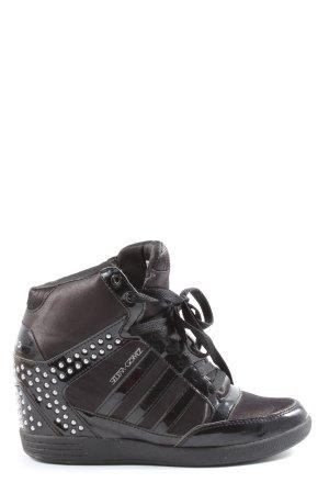 Adidas NEO Sneakers met hak zwart-zilver casual uitstraling
