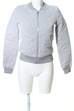 Adidas NEO Bomber Jacket light grey quilting pattern casual look