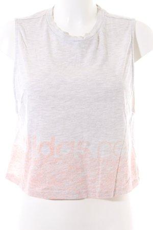 Adidas NEO Crop-top gris clair-rose chair gradient de couleur