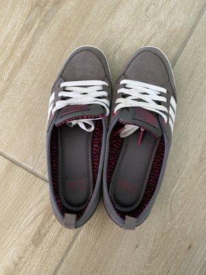 Adidas NEO Sznurowane trampki szary-biały