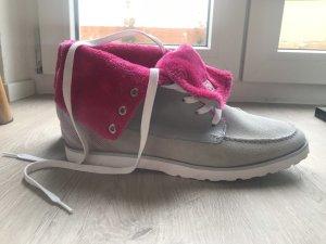 Adidas NEO Sneaker alta fucsia neon-grigio chiaro