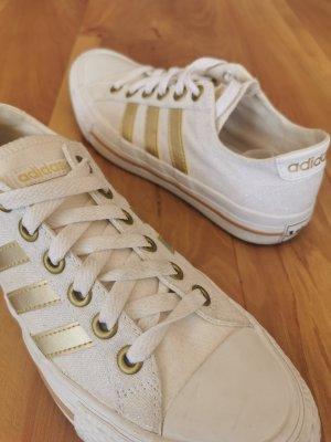 Adidas NEO Zapatilla brogue blanco-color oro
